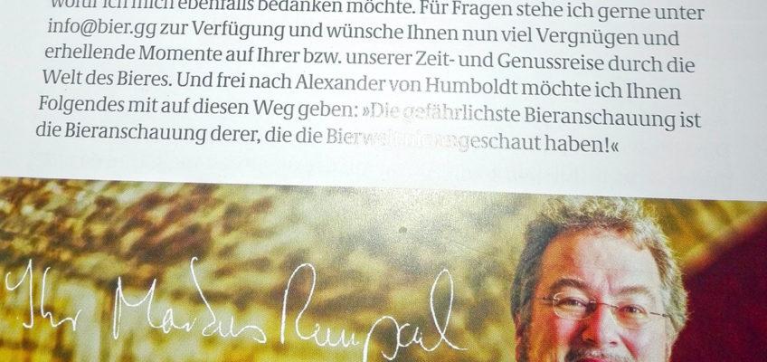 """Textauszug zur Namensnennung aus """"BIer - Geschichte und Genuss"""""""