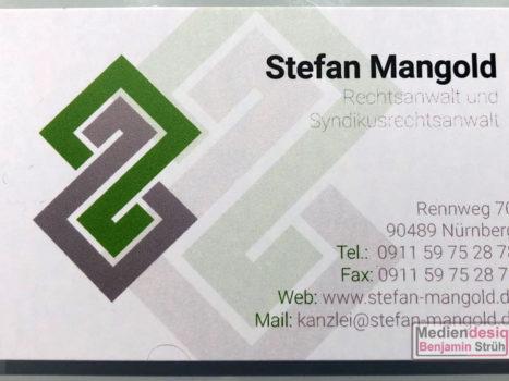 Visitenkarte Rechtsanwalt Stefan Mangold