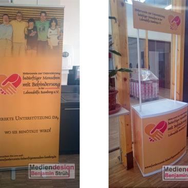 Förderverein zur Unterstützung bedürftiger Menschen mit Behinderung in der Lebenshilfe Bamberg e.V. Roll-Up & Theke